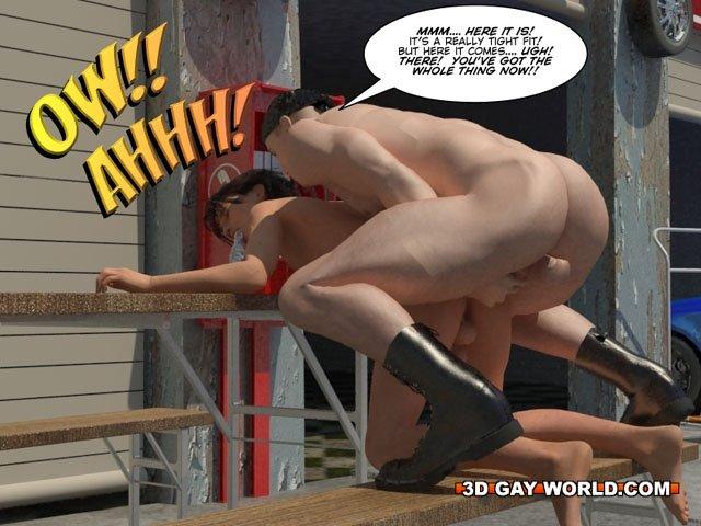 Порно комиксы 3д гей